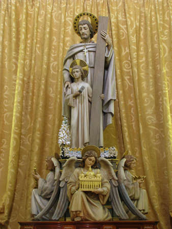adoptive: The statue of Saint Joseph in Birkirkara, Malta