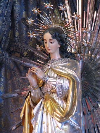immaculate: A statue of The Immaculate Conception in Cospicua, Malta