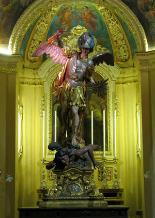 The statue of Saint Michael in Zejtun, Malta