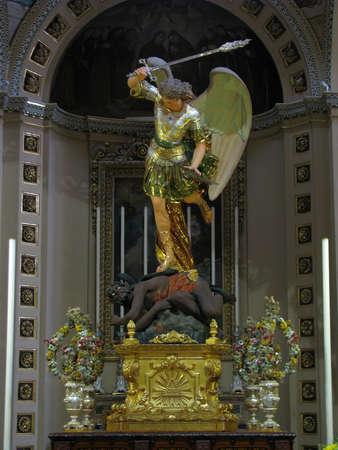The statue of Saint Michael in Zabbar, Malta