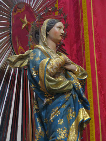 immaculate conception: A statue of The Immaculate Conception in Rabat, Malta  Editorial