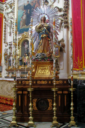 immaculate: A statue of The Immaculate Conception in Rabat, Malta  Editorial