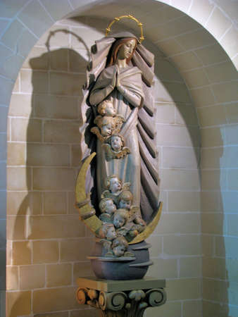 immaculate conception: The statue of The Immaculate Conception in Ibragg, Malta