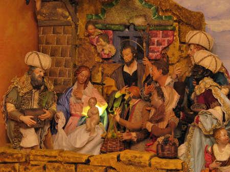 incarnate: Scenes from a Neapolitan crib in Ibrag, Malta  Stock Photo