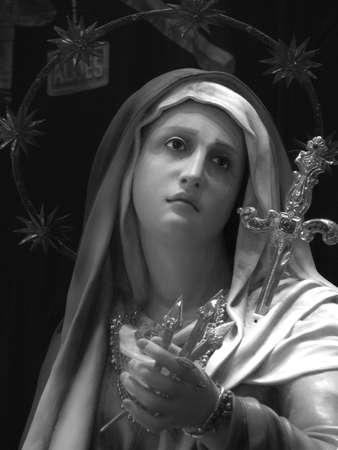 scourging: Our Lady of Sorrows in Cospicua, Malta  Stock Photo