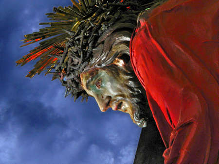 scourging: A detail of the statue of Christ The Redeemer at Senglea, Malta