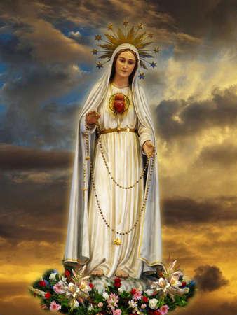The statue of Our Lady of Fatima at Gwardamangia, Malta