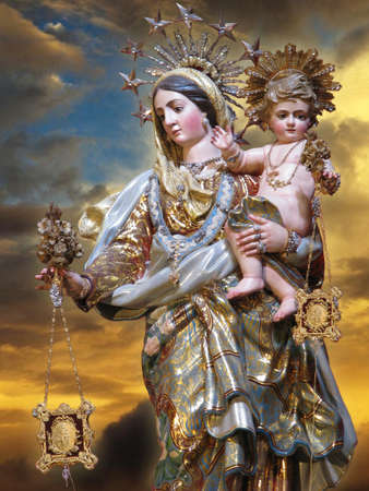 of our lady: The statue of Our Lady of Mount Carmel at Valletta, Malta