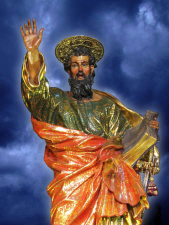 The statue of Saint Paul at Valletta, Malta