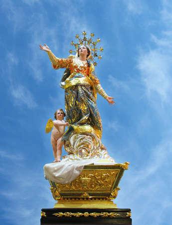 assumption: A statue of Saint Mary at Ghaxaq, Malta