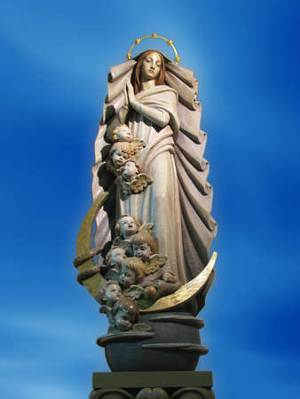 immaculate conception: A statue of The Immaculate Conception at Ibrag, Malta