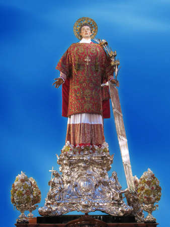 laurence: A statue of Saint Laurence at Vittoriosa, Malta