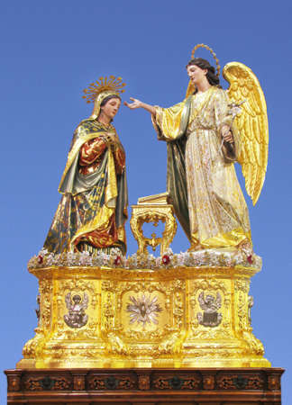 A statue representing The Annunciation of Our Lord Jesus Christ at Balzan, Malta