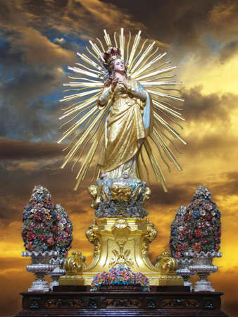 our lady: A statue of Our Lady of Victories, better known as Maria Bambina at Mellieha, Malta