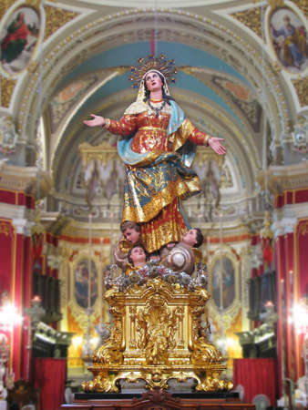 dogma: A statue of Saint Mary at Gudja, Malta