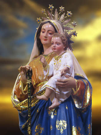 girdle: A statue of Our Lady of the Girdle at Gudja, Malta.