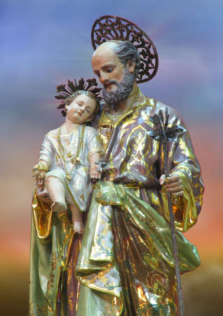 putative: A statue of Saint Joseph at Zebbug, Malta.