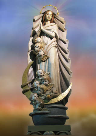 immaculate conception: A statue of The Immaculate Conception at Ibrag, Malta.