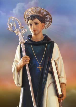leonard: The statue of Saint Leonard at Kirkop, Malta. Stock Photo