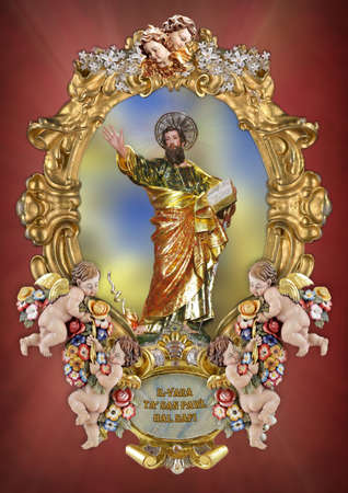 paul: A holy picture of Saint Paul