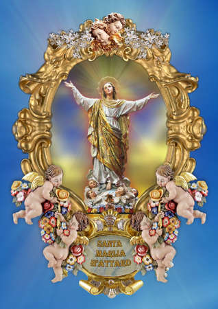 dogma: A holy picture of Saint Mary.
