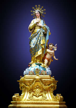 A statue of Our Lady of the Lilies at Mqabba, Malta.