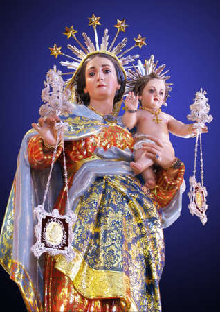 A statue of Our Lady of Mount Carmel at Zurrieq, Malta.