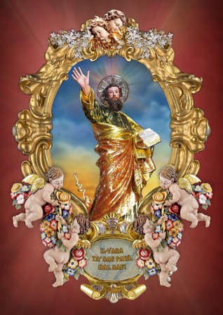 paul: A holy picture of Saint Paul.