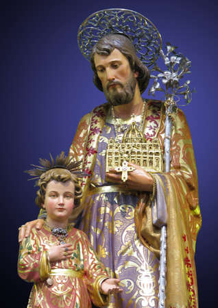 adoptive: A statue of Saint Joseph at Kalkara, Malta.