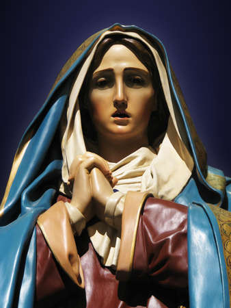 our lady of sorrows: A detail of a statue of Our Lady of Sorrows in Gozo, Malta.