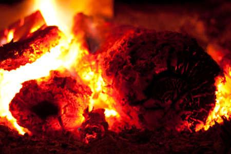 Burning coal in the furnace Stock Photo - 17020004