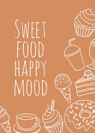 Dessert banner poster vector