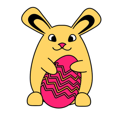 An Easter bunny rabbit with Easter egg