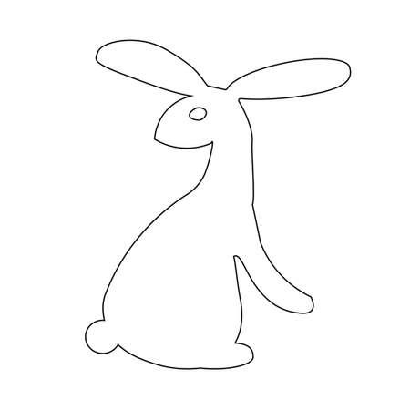 cartoon bunny. Use for Web, line , icon or logo Illustration