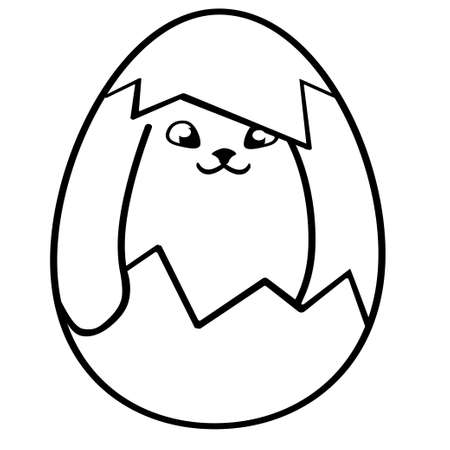 Cute little Easter bunny. Vector illustration isolated on background