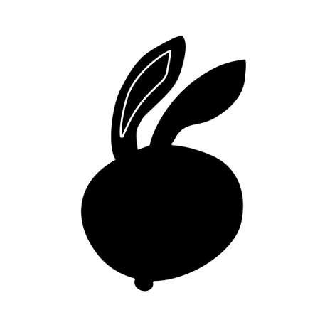 Easter themed vector rabbit illustration Illustration
