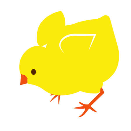 simple illustration of chick vector icon for web