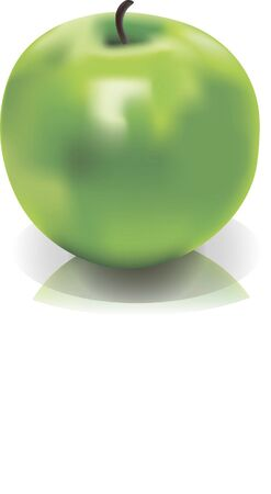 mesh: Picture of isolated green apple mesh Illustration