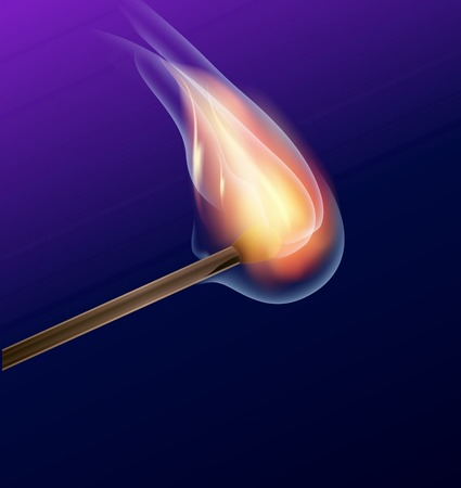 ignited: Burning matchstick