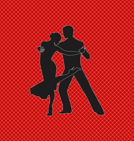 Tango dancing pair