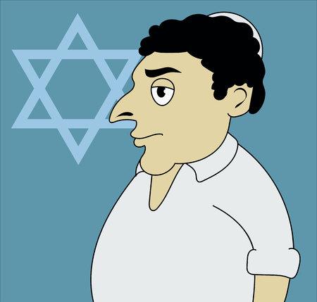 talit: A vector illustration of Jewish man