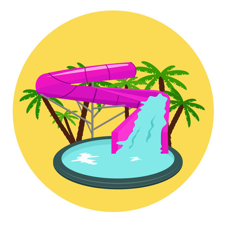 slide show: Aquapark. Vector illustration