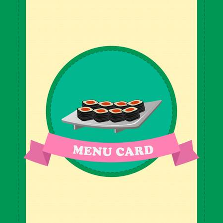 template of sushi menu for japanese cafe