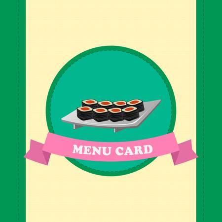 plantilla de menú de sushi para café japonés