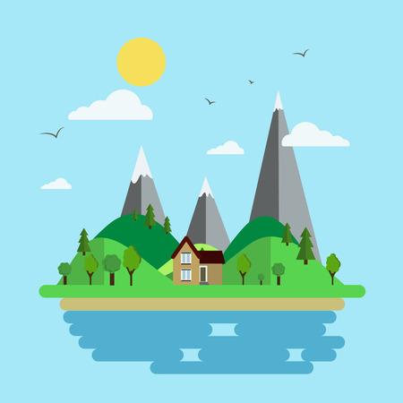 Illustration of an island Illustration