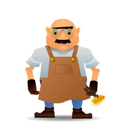 Blacksmith in vector format Illustration