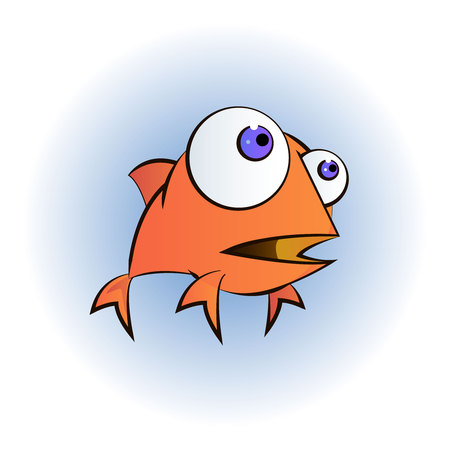 Goldfish cartoon character
