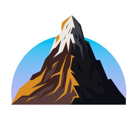 Mountain range vector emblem Stock Vector - 98174715