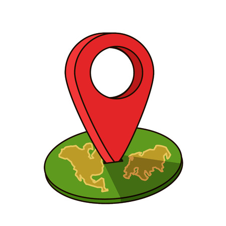 Around the world travelling by plane, airplane trip in various country, travel pin location on a global map. Flat icon modern design style Ilustração