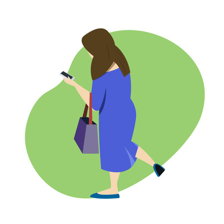 Women shopping online by smartphone. Business and e-commerce concept. vector illustration